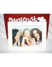 Barátnők feliratú képkeret 13x18 cm fotókhoz