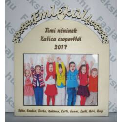 """Óvodai és iskolai ballagásokhoz ,,Emlékül"""" óvonéni/tanárnéni feliratú képkeret 13x18 cm fotókhoz"""