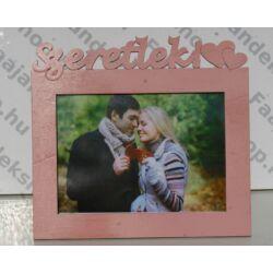 Szeretlek feliratú képkeret 13x18 cm fotókhoz