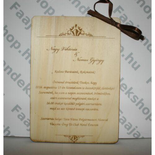 a5966124b2 Meghívó fából 30 db/csomag - Esküvői meghívók és kiegészítők ...